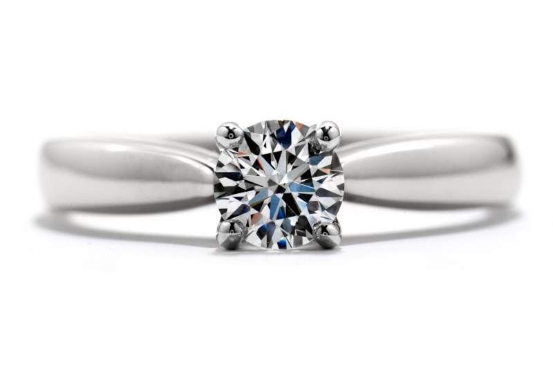 18K White Gold Hearts On Fire Solitaire Engagement Ring With 1.50 Carat Center Serialized Diamond by Hearts on Fire