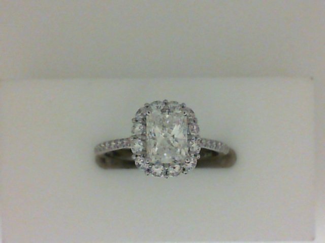 Coast Two Row Halo Diamond Engagement Ring With 0.54 Side Diamond Weight by Coast Diamond