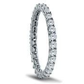 14K White Gold Low Setting Diamond Eternity Band With 0.84 Total Diamond Weight by Lieberfarb
