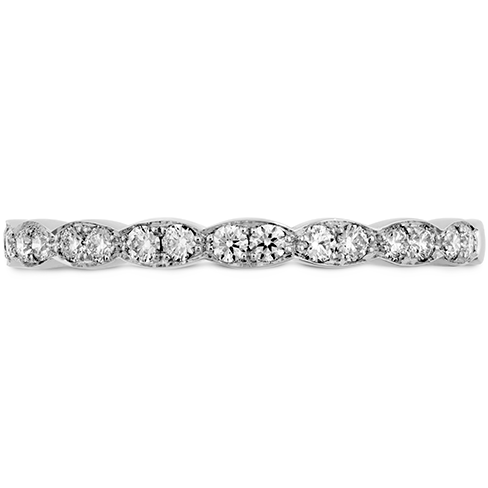 18K White Gold Hearts on Fire Lorelei Floral Diamond Band 0.22 Total Diamond Weight by Hearts on Fire