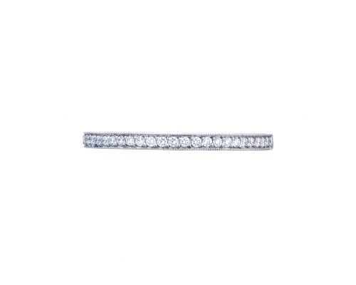 Tacori Sculpted Crescent Diamond Wedding Ring With 0.25 Total Diamond Weight in 18K White Gold by Tacori