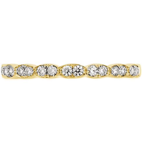 18K Yellow Gold Hearts on Fire Lorelei Floral Diamond Band 0.21 Total Diamond Weight by Hearts on Fire