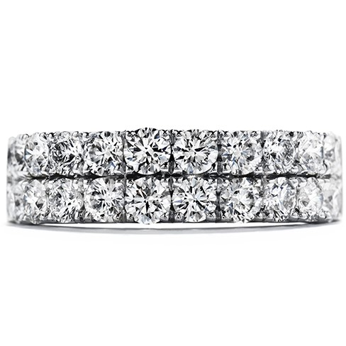 18K White Gold Hearts On Fire Truly Classic Double-Row Band 0.77 Total Diamond Weight by Hearts on Fire