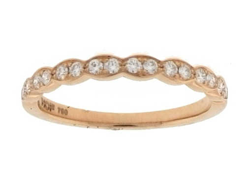 18K Rose Gold Hearts on Fire Lorelei Floral Diamond Band 0.20 Total Diamond Weight by Hearts on Fire
