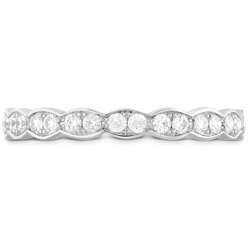18K White gold Hearts On Fire Lorelei Floral Midi Band 0.21 Total Diamond Weight by Hearts on Fire