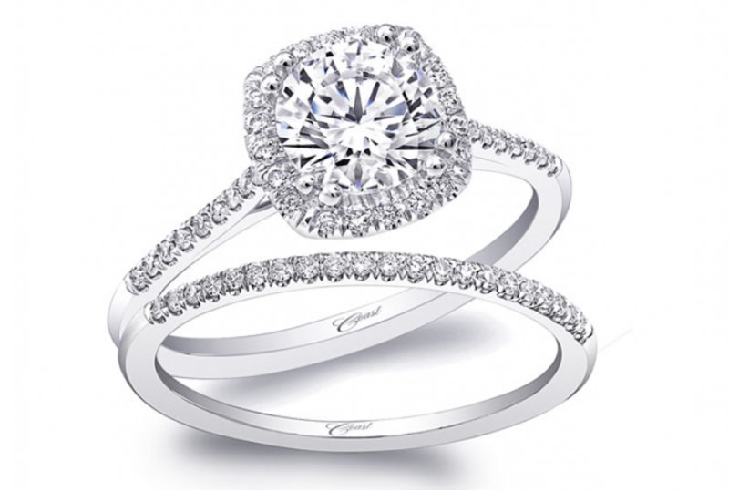 Coast Petit Halo Engagement Ring LC5410 by Coast Diamond