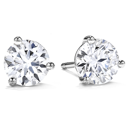 Heart on Fire  Three Prong Stud Diamond Earrings 3SIE00608W by Hearts on Fire