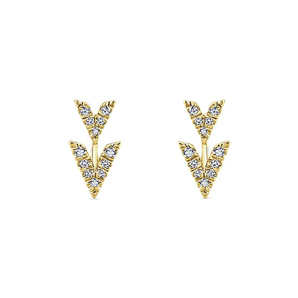 Gabriel & Co Trends Diamond Stud Earrings EG13091Y45JJ by Gabriel & Co