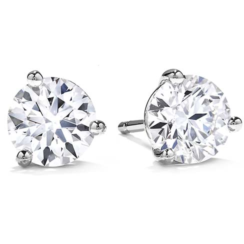 Hearts on Fire Three Prong Diamond Studs  3SIE00508W by Hearts on Fire