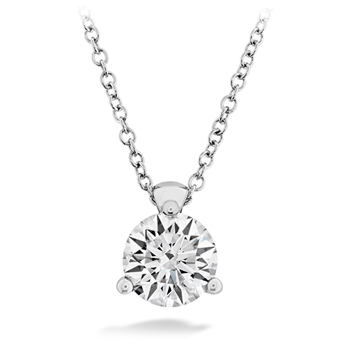 HOF Classic 3 Prong Solitaire Diamond Pendant   HFPHCLA3P00108W by Hearts on Fire