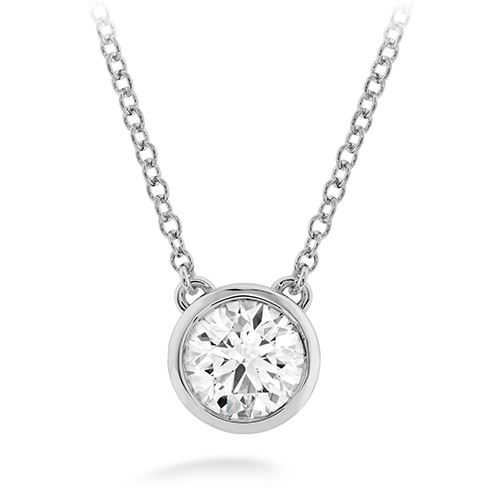 HOF Classic Bezel Solitaire Pendant HFPHCLABZ00108W by Hearts on Fire