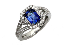 Frederic Sage Sapphire and Diamond Ring One Of A Kind by Frederic Sage