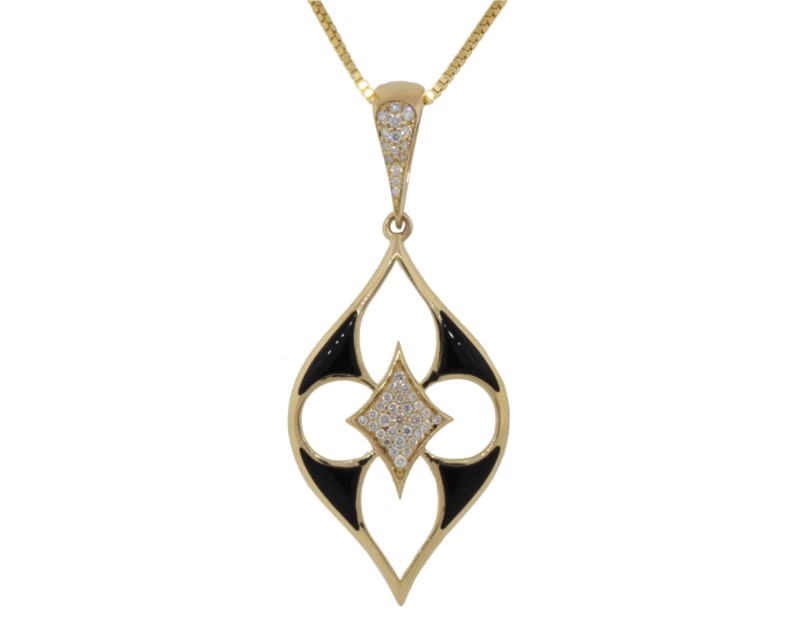 Kabana Onyx & Diamond Inlaid Enhancer GPIF130OX by Kabana
