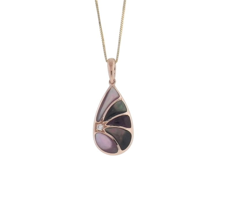 Kabana Lavender Spiny Oyster Pendant With Diamond NPCF549MBP by Kabana