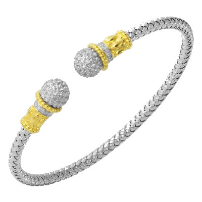 Charles Garnier PMC5106YW, 4 mm Pitti Created White Sapphire Pave