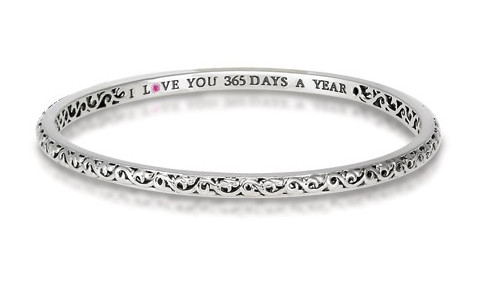 Charles Krypell, Ivy Design I Love You 365 Days Bangle 5-6612-S163 by Charles Krypell