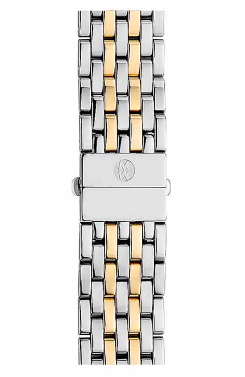 Michele 18 mm Two Tone Sidney Bracelet MS18GA285048 by Michele Watch