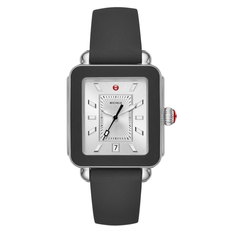 Michele Deco Sport Stainless Black Silicone Watch MWW06K000002 by Michele Watch