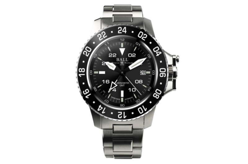 Ball Engineer Hydrocarbon AeroGMT Stainless Black Dial Men