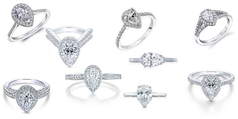 pear shape engagement rings