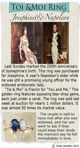 Napoleon and Josephine Ring