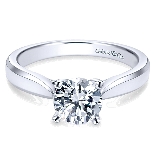 Gabriel Marine Solitaire Engagement Ring by Gabriel & Co