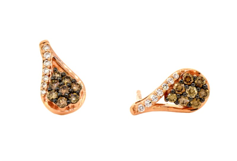 14K Strawberry Gold® Earrings YQOL16 With  0.33 Total Diamond Weight by Le Vian