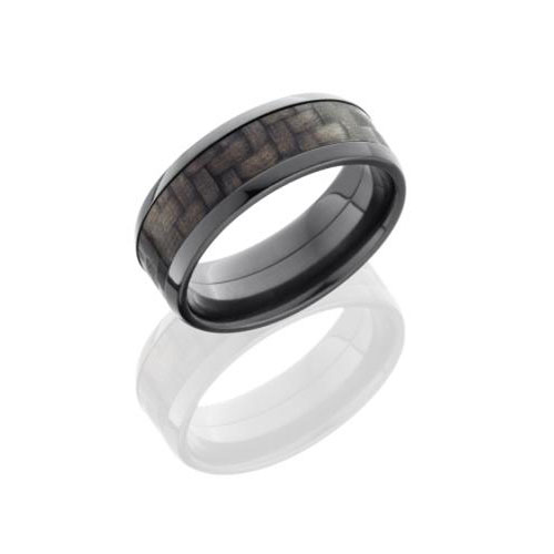 Lashbrook Men's 8 mm Black Zirconium Wedding Ring with Woven Design by Lashbrook Designs