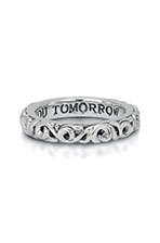 Charles Krypell, I Love You Tomorrow Filigree Ring, Sterling by Charles Krypell