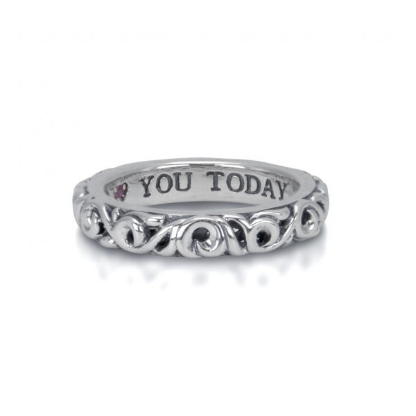 Charles Krypell, I Love You Today Filigree Ring, Sterling by Charles Krypell