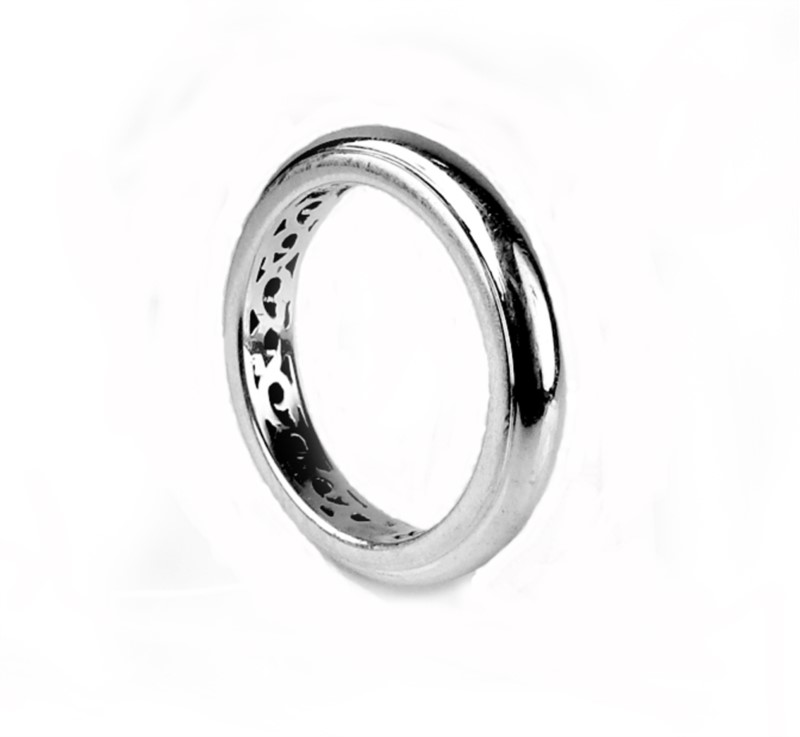 "Charles Krypell, ""I Love You 365 Days a Year"" Smooth Ring, Sterling by Charles Krypell"