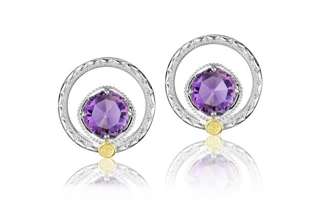 Tacori Lilac Blossoms Silver Bloom Gem Stud Earrings SE14001 by Tacori