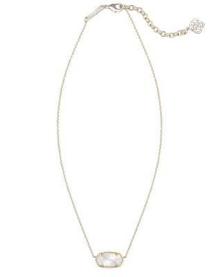 Kendra Scott Elisa Necklace Ivory Mother of Pearl Gold Tone by Kendra Scott