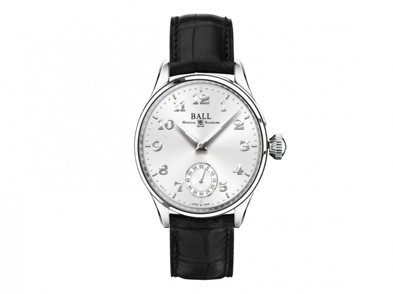 Ball Trainmaster Cleveland Night Express White Dial Men