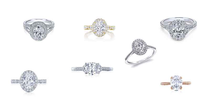 oval shape diamond engagement rings